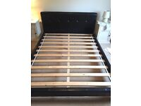Real leather king size bed - Immaculate condition