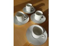 Thomas Platinum Medaillon 4 Cups and Saucers