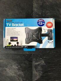 TV wall mount bracket, tilt and swivel for 15-30 inch TV