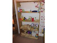 Pine bookcase bookshelf toy storage