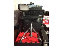 Millennium Drum Throne/Stool with Back-rest - hydraulic