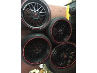 19inch Bbs Black Alloys With New Tyres. 2x 225/35/19 & 235/35/19. £550 Last Price