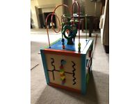 Wooden baby activity cube
