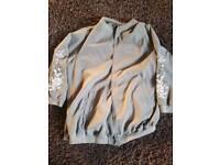 Plus size bomber jacket long line gorgeous detail fit 24/26