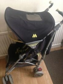 Maclaren Techno XLR Buggy/Stroller in Black and Lime Green