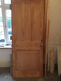 A four panelled original oak internal door