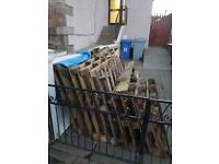 Wood pallets to be uplifted