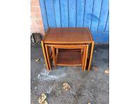 Retro G plan/scandinavian style nest of three coffee/side tables.