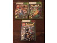 3 x Xbox 360 games Lego Harry Potter, Lego Batman + Rayman legends