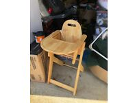 Brother maxx high chair wooden