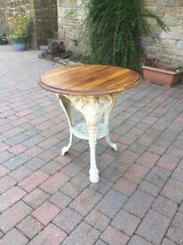 Vintage Cast iron circular table