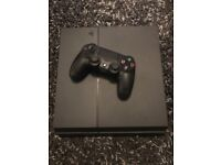 PlayStation 4 500gb, power supply and controller