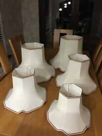 Set Of 5 Matching Lamp Shades - (See Listing For Details Of Sizes)
