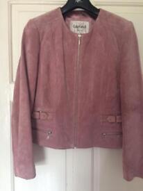 Ladies Lakeland pink suede jacket - Size 14