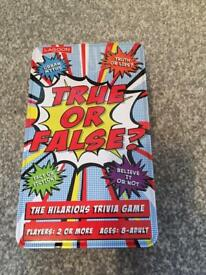 True or false card game brand new