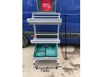 mobile vegetable shelving rack