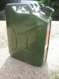 Steel fuel jerry can 20l NOW REDUCED IN PRICE
