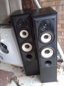 Mission 704 Loudspeakers .large floorstanding 250watt passive speakers.no grills ,could deliver