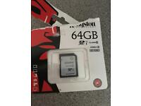 64gb sd card blank/brand new