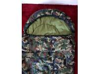 Camouflage mummy sleeping bag in very good condition