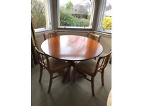 Beautiful Round Dining Table and 4 Chairs