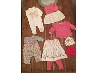Gorgeous baby girl bundle - up to 1 Month WORTH £105