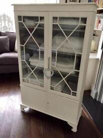 Painted Glass Cabinet Storage