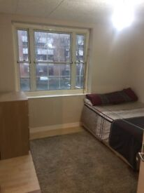Refurbished furnished double room with lots of light in a renovated flat, 5mins from tube stations