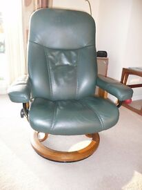 Leather recliner chair by 'Stressless', unmarked and at realistic price. Well maintained since new.