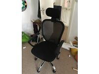 Black computer chair with arms