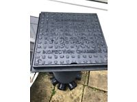 Clark Drain cover 400mmX400mm for use in conjunction with 300mm CHAMBER SET 5-INLET C/W SQ P