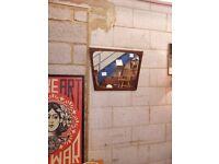 Danish Mid Century Rosewood Retro Mirror