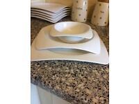 Malacasa bowl and plate set