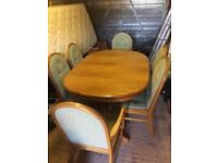 Sutcliffe Dining Table And 6 Chairs extendable