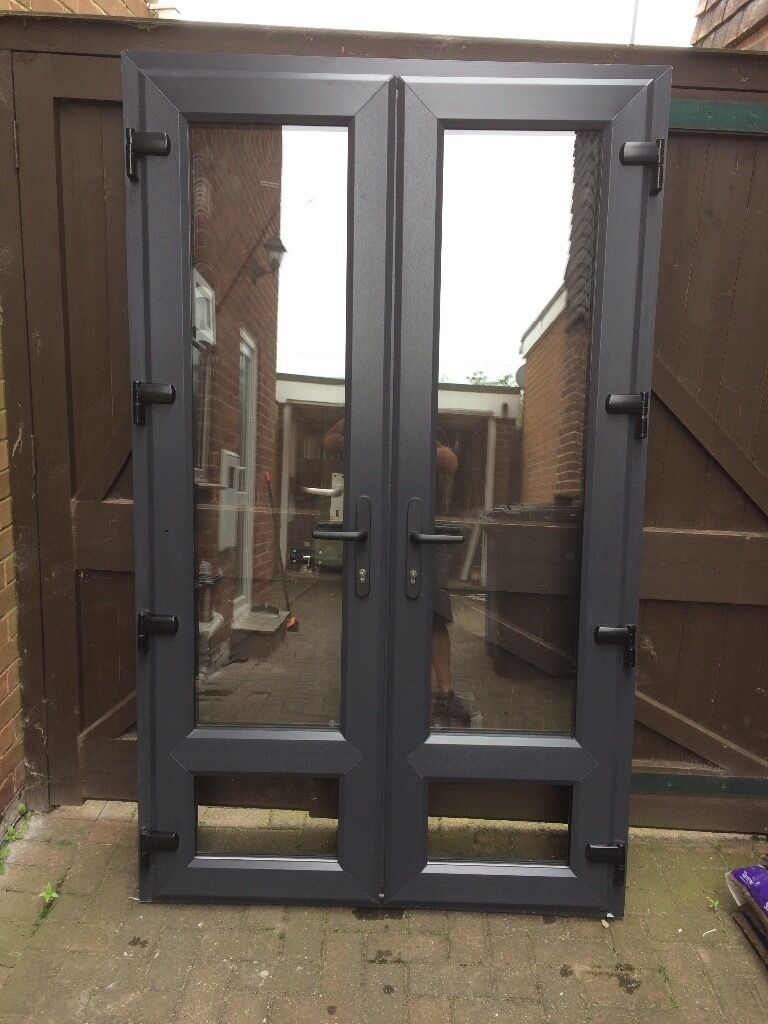 Anthracite Grey Upvc French Doors In Derby Derbyshire