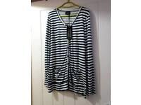 Brand-new ladies stripes cardigan size 14