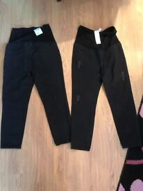 Ladies black maternity jeans x2 uk 12 bnwt