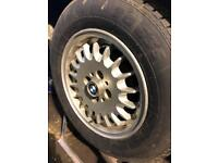 "Bmw e30 14"" bottle top alloys vgc"