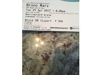 Bruno mars tickets x3