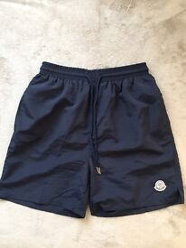 MENS SWIMMING TRUNKS SIZE S/M IN DARK BLUE NEW