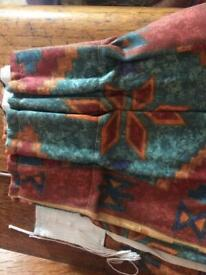Curtains Aztec style fully lined