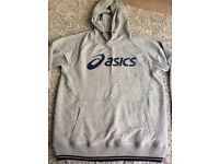 ASICS brand new grey mens hoodie size large ! RRP £50