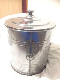 Vintage coal/embers metal bucket with metal inner