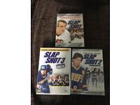 Complete set of Slapshot 1-3 on DVD - ice hockey / rare copy