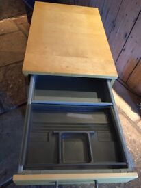Wooden filing cabinet -