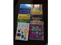Science books.