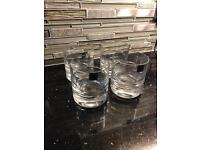 Set of 4 whiskey tumblers glasses - NEW 24% lead crystal hand cut
