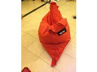 Red kids baz bag indoor and outdoor bean bag