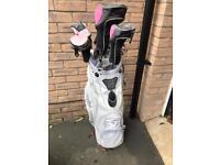 Pink ladies golf club set