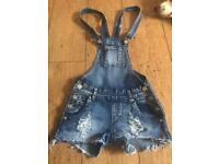 Ladies size 4/6/8 dress denim playsuit